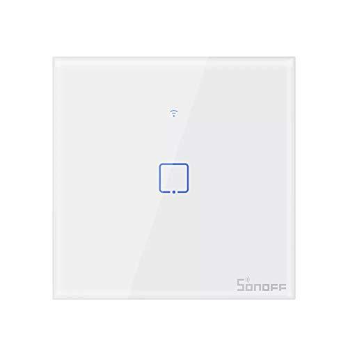Lixada SONOFF T2 Interruptor Inteligente CA 100-240V 1/2/3 Interruptor WiFi de Pared TX 433 MHz Interruptor de RF a Control Remoto