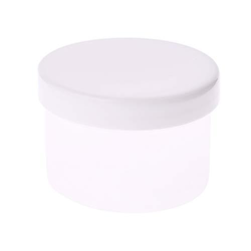 Recipiente vacío de 150 ml con tapa de rosca, organizador transparente para arcilla ligera, tarro de maquillaje, tarro cosmético, botella de crema, caja de uñas