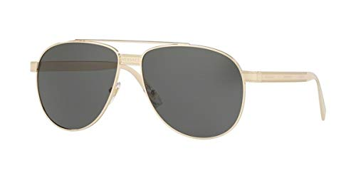 Versace 0VE2209 Gafas de sol, Pale Gold, 58 Unisex