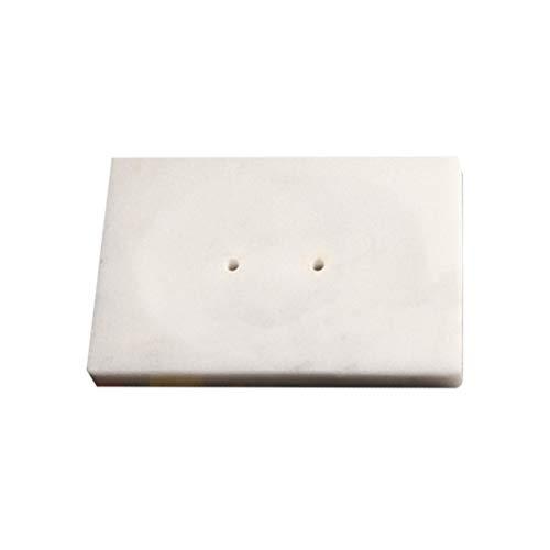 Exceart Saboneteira com drenagem de saboneteira mármore, sabonete, caixa de sabonete, caixa com orifício para chuveiro, lavabo, banheira, cozinha, esponjas de maquiagem brancas