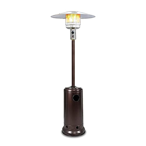 KEPLIN Patio Gas Heater | Free Standing Outdoor Infrared Heater, Gas Power with Electric Heater Ignition | Perfect for Garden, Under Gazebo, Outside Seating (Tower)