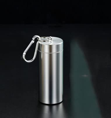 XIAOXIA Metall-Zigarettenetui Mit Dichtungsgummiring Klein 60 Sticks Wasserdichtes Zigarettenfass Mit Außengewinde Tee Caddy Zerkleinertes Tabakfass