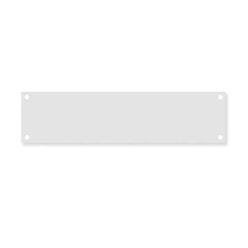 Design Letters Montageplatte aus Stahl für Hausnummern und Buchstaben (7cm x 28 cm)