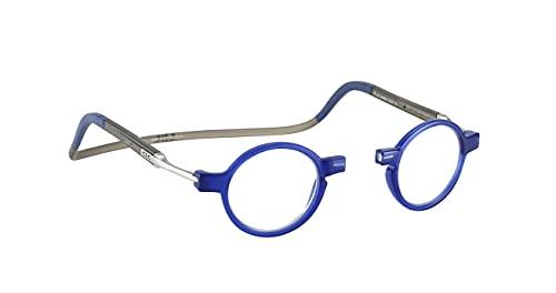 Lesebrille Damen und Herren Original CliC Flex Round | Magnetbrille mit ausziehbaren Stange | Lesehilfe reading glasses | Lesebrille Lesehilfe +1.5 (+3.0)