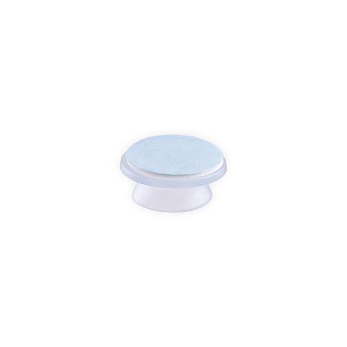 DIYexpert® 4 ventosas de 16 mm de diámetro con Placa Adhesiva, Autoadhesivas, Fabricadas en Alemania