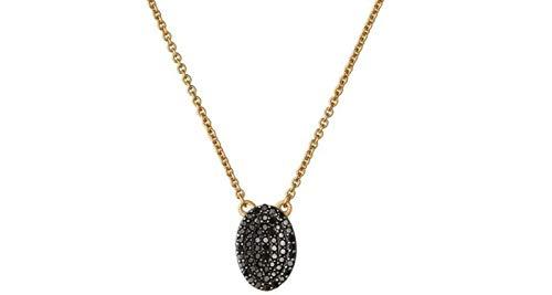 LINKS OF LONDON Concave Black Diamond Gold Vermeil Necklace BNWT RR 502 BNWT