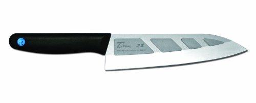 FOREVER 28516 Titane - Coltello da Cucina Doppio Strato Lega di Titanio/Argento/Ceramica, 16 cm