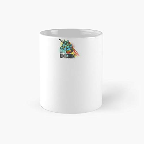 Taza clásica Censurada de unicornio de la guerra | El mejor regalo divertidas tazas de café de 11 onzas