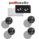 Polk Audio 70-RT + Polk Audio 255C-RT 5.0 Vanishing Series In-Ceiling / In-Wall Home Theater Speaker Package