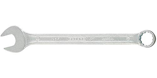 GEDORE Ringmaulschlüssel UD-Profil 18 mm, Hochwertiger Vanadium-Stahl, Blendfreie Optik, Nach DIN 3110, Silber