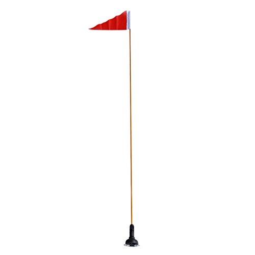 Sharplace Bandera de Seguridad con Poste Base de Montaje, Banner 15.5 x 30cm, Polo de Bandera 1.2mx 8.5mm