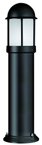 LCD Wandleuchte 75 Watt 1x E27 Schwarz Aluminium- Druckguss Opalglas