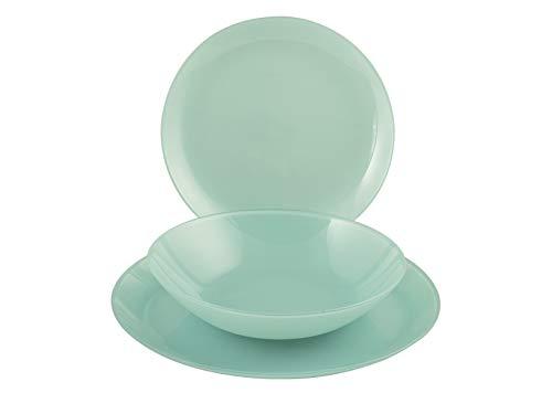 ARCOPAL-LUMINARC Arty Soft Blue - Paquete de 18 unidades, color azul