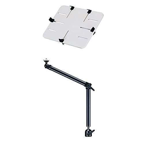 RENSI DO-SPW - Soporte de coche para tablet de 10 a 13 pulgadas, iPad, Kindle Tolino, cámara, montaje en coche, camión, caravana, de aluminio