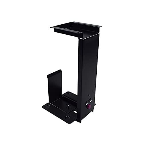 Shelf Rack De Almacenamiento En Torre con Chasis De Refrigeración Montado En La Pared De CPU Negro con Soporte De Monitor De Altura Y Anchura Ajustable