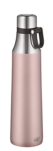 alfi Botella isotérmica de acero inoxidable, 0,7 litros, color rosa