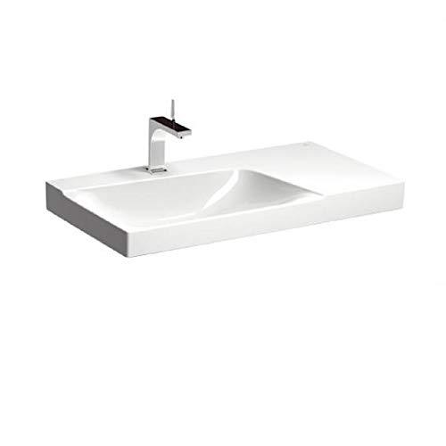 Keramag Xeno² Waschtisch 90 cm weiß; mit Ablage rechts, mit Hahnloch