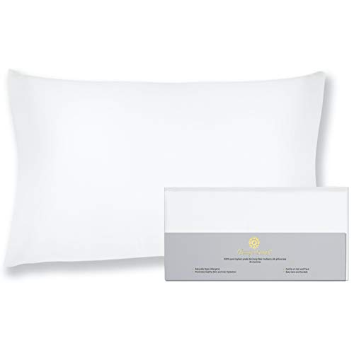 "BEAUTY OF ORIENT - 25 Momme, 100% Pure Mulberry Silk Pillowcase for Hair and Skin, Natural Hypoallergenic Silk Pillow Case, Best for Beauty Body and Sleep (King - 20"" x 36"", Natural Undyed White)"
