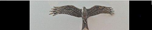 B45 Red Kite English Pewter emblème sur une pince à cravate 4 cm fait à la main à Sheffield Livré avec prideindetails Boîte Cadeau