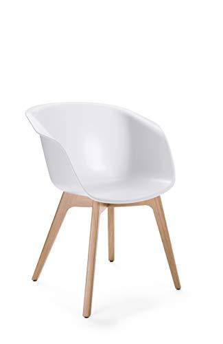 Sedus On spot Designstuhl, Kunststoff, Weiß, 60 x 65 x 83 cm