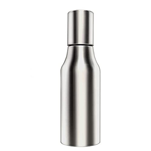 CNmuca Caixa de Azeite de Aço Inoxidável Olive Sir Pulverizador Pote Cozinhar Óleo de Cozinha Frasco Spray Dispensar Óleo Vinagre Molho prata 1000ml