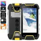 Snopow M10W Rugged Phone - Octa Core CPU, 6GB RAM, IP68, 6500mAh Battery, Dual SIM, 4G, Walkie-Talkie, 5 Inch Screen (Yellow)