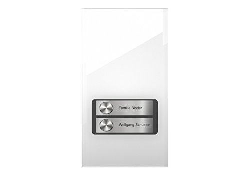 DoorLine Pro Exclusive Weiß Türsprechanlage, Klingel, Türöffner anschließbar, Zugangskontrolle über PIN-Code, Touchscreen, Haustelefon und Handy als Gegensprechanlage, Anschluss a/b 2-Draht