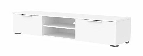 Tvilum Match TV Stand, White High Gloss