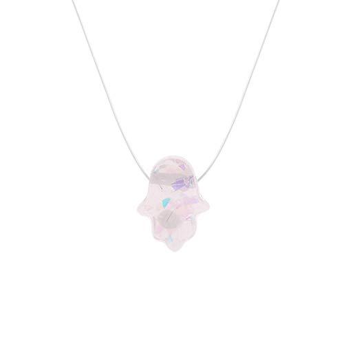 Simple Transparent Thin Lines Rhinestone Pendant Tattoo Choker Necklace For Women Charm Fashion Collar Bijoux Jewelry