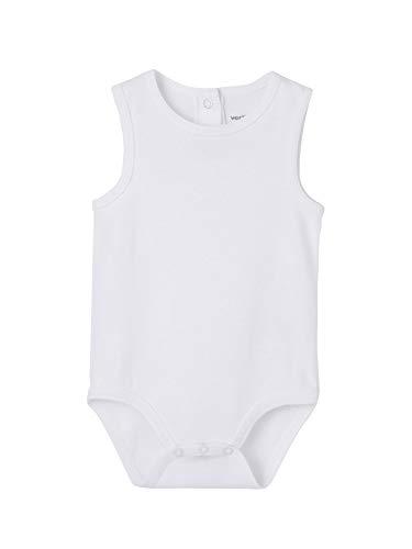 VERTBAUDET Lote de 3 bodies blancos sin mangas 100% algodón bebé Blanco 18M - 81CM