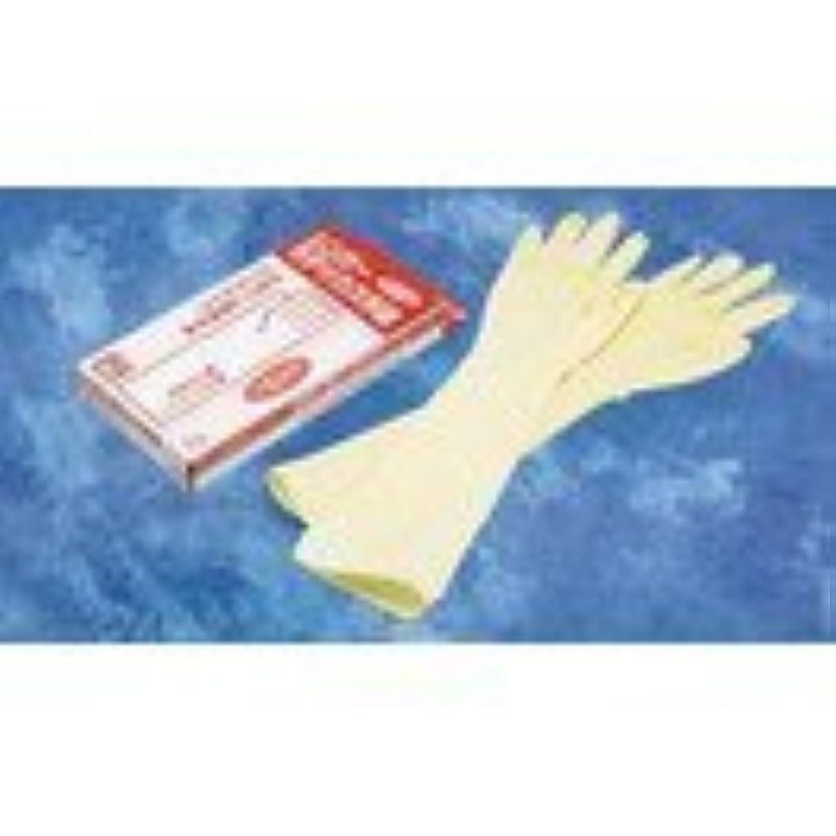 座標予防接種するしなやかなTGK シンガーラテックス手袋ロング48 L 10入 0098237528