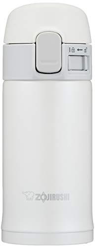 象印マホービン(ZOJIRUSHI) 水筒 ステンレス ボトル 直飲み 200mlワンタッチ オープン タイプ ホワイト SM-PC20-WA