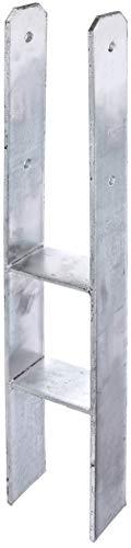 GAH-Alberts 205003 H-Pfostenträger   feuerverzinkt   lichte Breite 71 - 161 mm   Gesamthöhe 600 - 800 mm   Materialstärke 4 - 8 mm   lichte Breite 121 mm   Gesamthöhe 800 mm   Materialstärke 8 mm