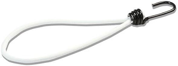 25 expanderlussen 250 mm wit met spiraalhaken | spanhaaktouw | lus met haak | rubberspanner | rubberen spanlus | tentbenod...