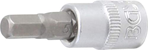 BGS 9466 Bit-Einsatz Antrieb Innenvierkant 6,3 mm (1/4 Inch) Innensechskant 5,5 mm, Schlüsselweite