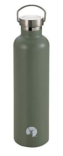 【Amazon.co.jp 限定】 キャプテンスタッグ(CAPTAIN STAG) スポーツボトル 水筒 直飲み ダブルステンレスボトル 真空断熱 保温 保冷 HDボトル 1000ml アンティークグリーン UE-3528
