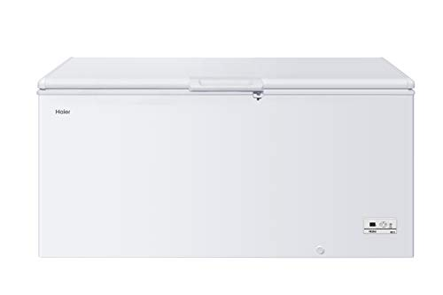 Haier HCE319F Freestanding Chest Freezer, 319L Total Capacity, With Counter...