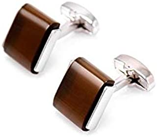 Fashion Brown Opal Cufflinks French Men's shirt cufflinks