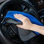 Paño de limpieza, 3 piezas de toallitas de microfibra engrosadas de doble cara, utilizadas en coches, motocicletas, bicicletas, electrodomésticos, etc., con una variedad de colores