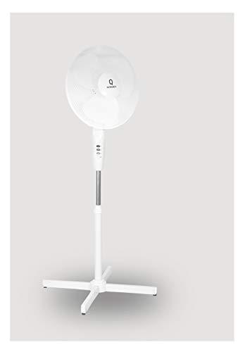 Quwando16 Inch Fan Standventilator super Design 3 Geschwindigkeiten rotierend Windmaschine, Weiß, Ventilator, 40W