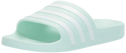adidas Women's Adilette Aqua Sandal, ice Mint/White/ice Mint, 10 M US