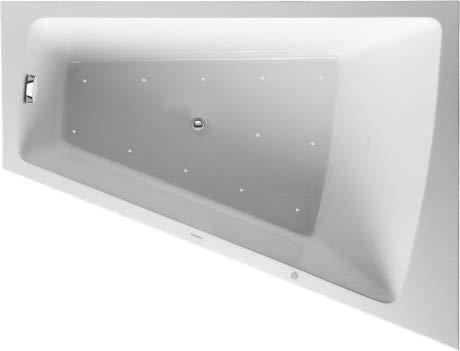 Duravit Whirlpool Paiova 1700x1300mm eine Rückenschräge rechts, angeformte Acrylverkleidung Front, Gestell, Ab- und Überlaufgarnitur, Airsystem