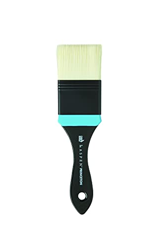 Princeton Aspen, Series 6500, Synthetic Paint Brush for Acrylics and Oils, Flat Mottler, 2 Inch