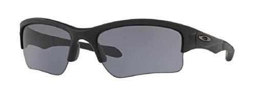 Oakley Quarter Jacket OO9200 920006 61M Matte Black/Grey Sunglasses For Juniors+BUNDLE with Oakley Accessory Leash Kit