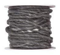 Wollband grau 5mm 10m