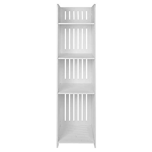 Estante de esquina de 4 niveles, moderno tallado, estante de esquina para montar en la pared, estante de almacenamiento tallado, a prueba de humedad, estanterías, artículos de tocador, organizador