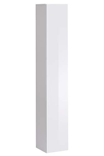 Lettiemobili – Pensile Verticale Modello Berit V180 in Colore Bianco (Modulo Individuale)