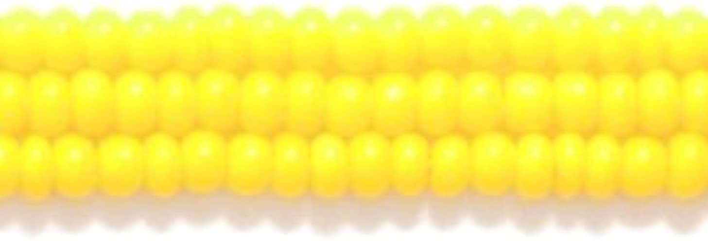 Preciosa Ornela Czech Opaque Seed Bead, Dark Yellow, Size 10/0