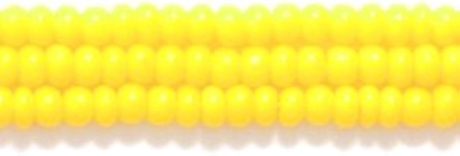 Preciosa Ornela Czech Opaque Seed Bead, Dark Yellow, Size 10/0