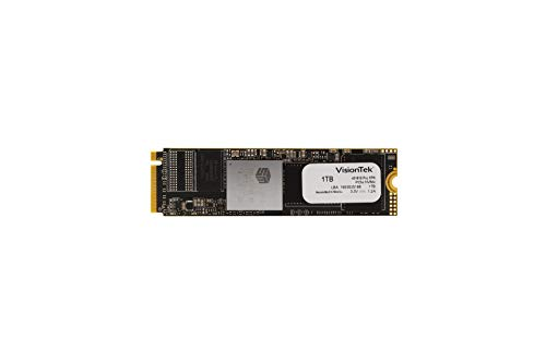 VisionTek 1TB PRO XPN M.2 NVMe SSD Internal Solid State Drive with 3D NAND Technology for Desktop Computers, Laptops and Mac Systems (901307)